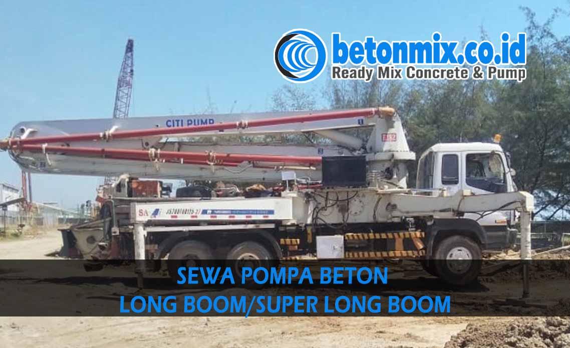 harga sewa pompa beton long boom